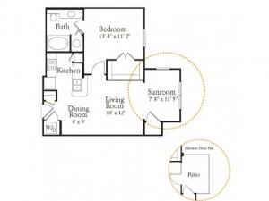 Ridglea Village Apartments Floor plan