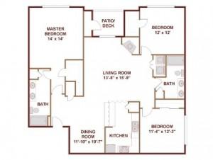 AMLI 7th Street Station Apartments Floor Plan