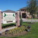 North Greenbriar Apartments Entry Sign