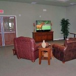 Oak Timbers South Senior Housing Apartment Living Room.