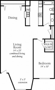 The Place at Westover Hills Apartment Floor Plan